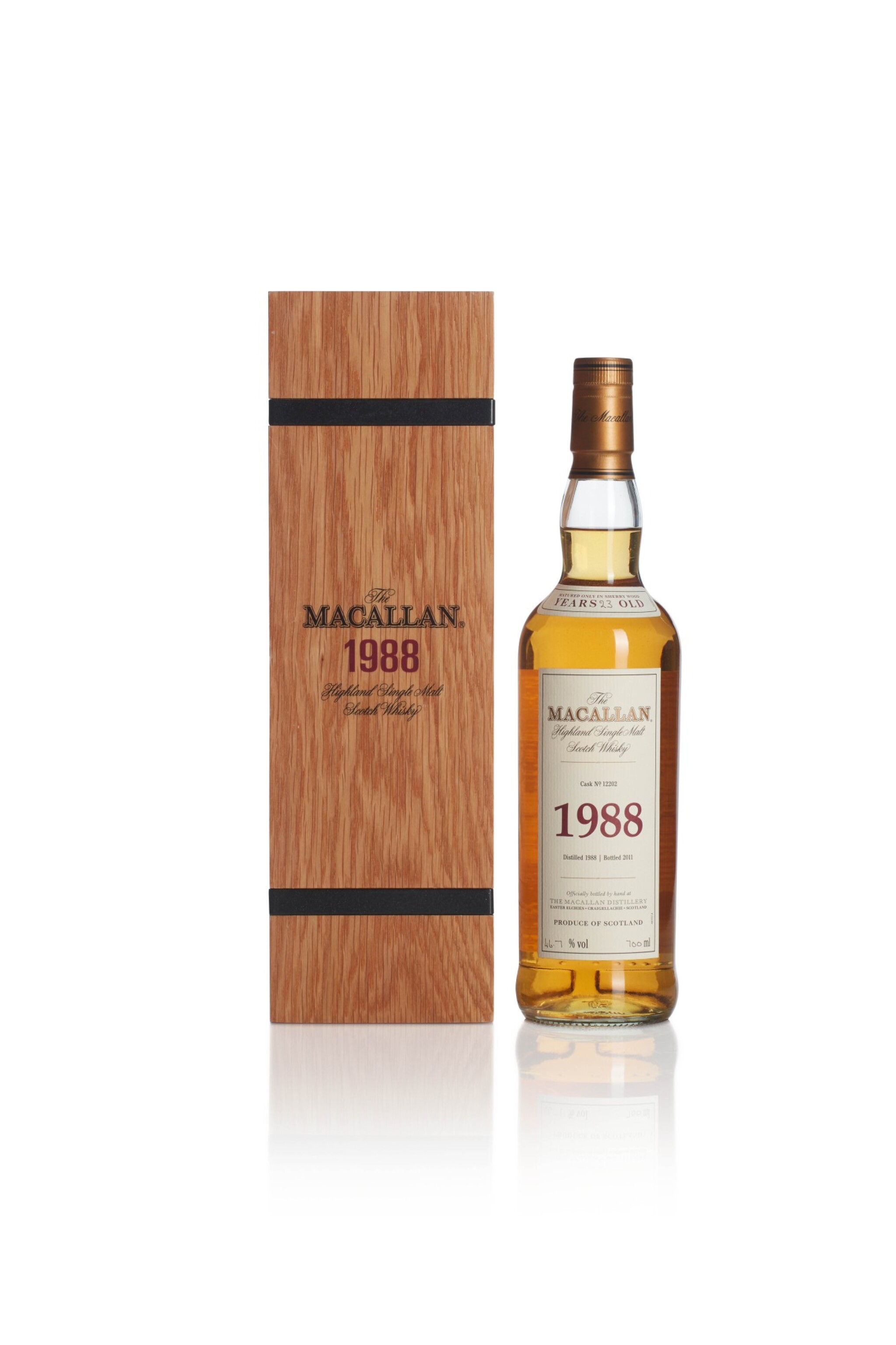 View full screen - View 1 of Lot 2. The Macallan Fine & Rare 23 Year Old 46.7 abv 1988.