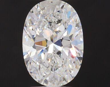 A 3.05 Carat Oval-Shaped Diamond, H Color, Internally Flawless