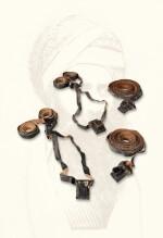 TEFILLIN (PHYLACTERIES) OF THE BEN ISH HAI, RASHI AND RABBEINU TAM PAIRS, [BAGHDAD: 19TH CENTURY]