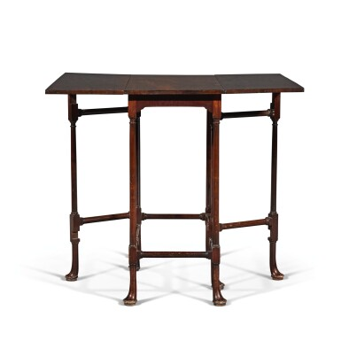 View 2. Thumbnail of Lot 252. A George III mahogany spider-leg table by Thomas Chippendale, 1768.