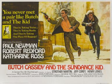View 1. Thumbnail of Lot 1054.  BUTCH CASSIDY AND THE SUNDANCE KID (1969), POSTER, BRITISH.