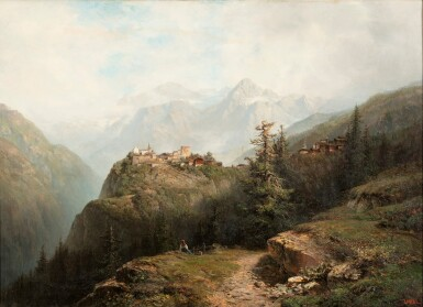 View 1. Thumbnail of Lot 205. A Mountain Landscape .