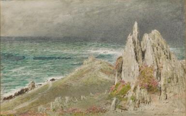 ALBERT GOODWIN, R.W.S.   Morte Point, North Devon