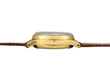 View 5. Thumbnail of Lot 2263. Patek Philippe | Reference 1518, A highly exceptional yellow gold perpetual calendar chronograph wristwatch with moon phases and original box, Circa 1951 | 百達翡麗 | 型號1518 非常精美黃金萬年曆計時腕錶,備月相顯示,附帶原裝盒子,約1951年製.