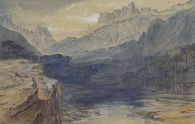 View 1. Thumbnail of Lot 77. EDWARD LEAR   The Pass of Bavella, Corsica   .