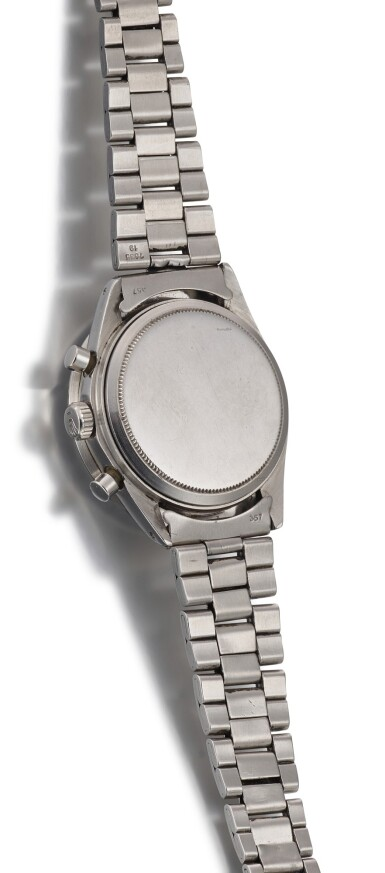 View 3. Thumbnail of Lot 4. ROLEX | PAUL NEWMAN DAYTONA, REFERENCE 6241, A STAINLESS STEEL CHRONOGRAPH WRISTWATCH, CIRCA 1968.