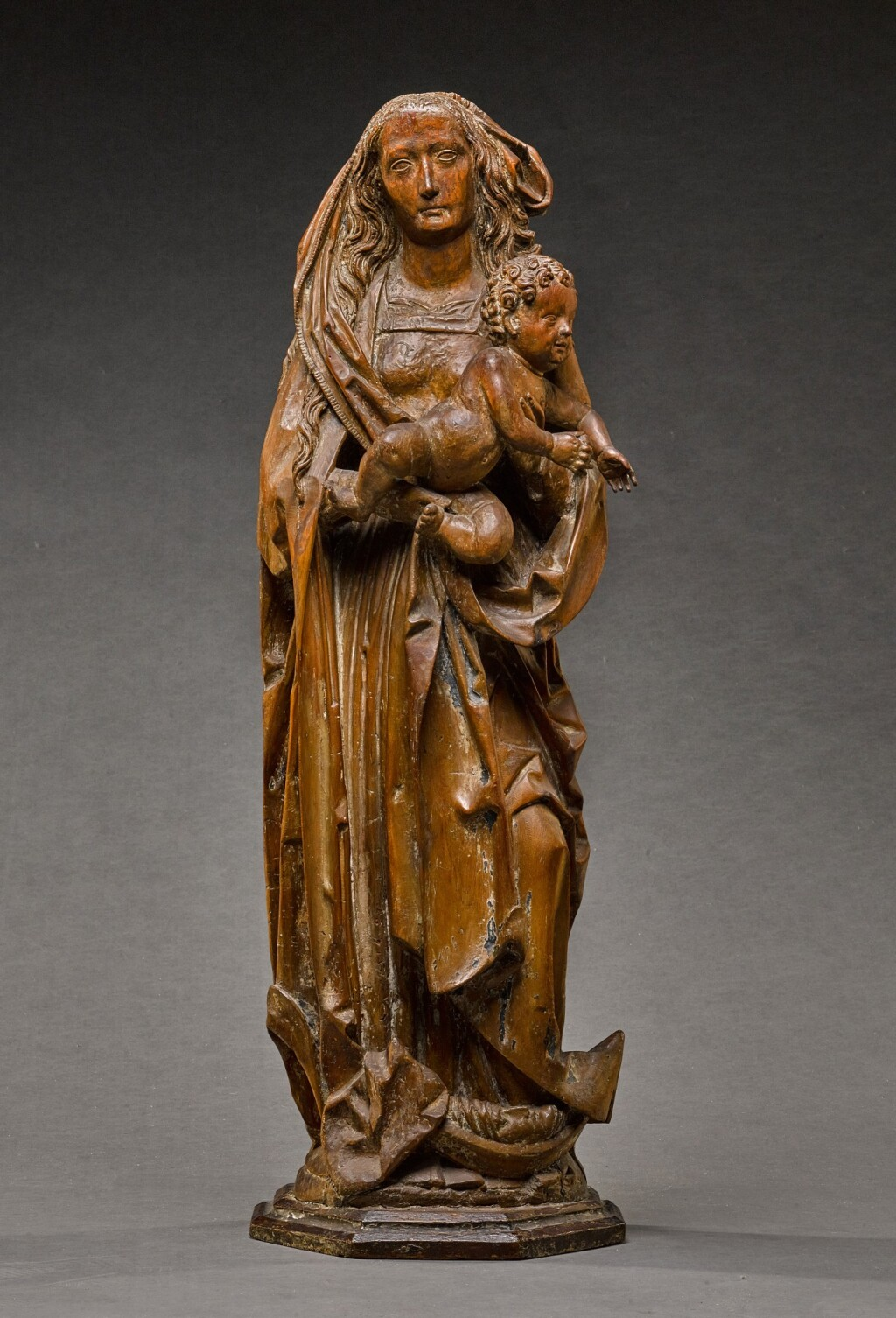 GERMAN, FRANCONIA, EARLY 16TH CENTURY | VIRGIN AND CHILD ON A CRESCENT MOON