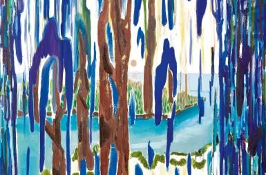 View 2. Thumbnail of Lot 1107. Shara Hughes 莎拉‧休斯   Weeping Willow 哭泣的垂柳.