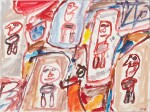 JEAN DUBUFFET   SITE AVEC 5 PERSONNAGES [SITE WITH 5 CHARACTERS]