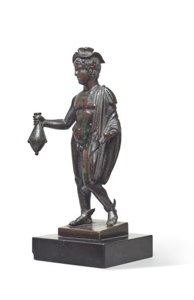 View 3. Thumbnail of Lot 124. A Roman Bronze Figure of Hermes, circa 2nd Century A.D..