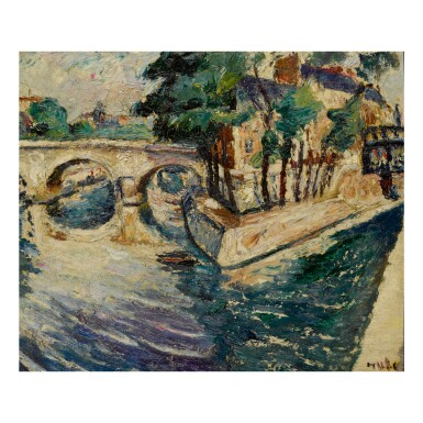 View 2. Thumbnail of Lot 40. MELA MUTER | LANDSCAPE WITH MOUNTAIN - RECTO   LANDSCAPE WITH BRIDGE - VERSO.