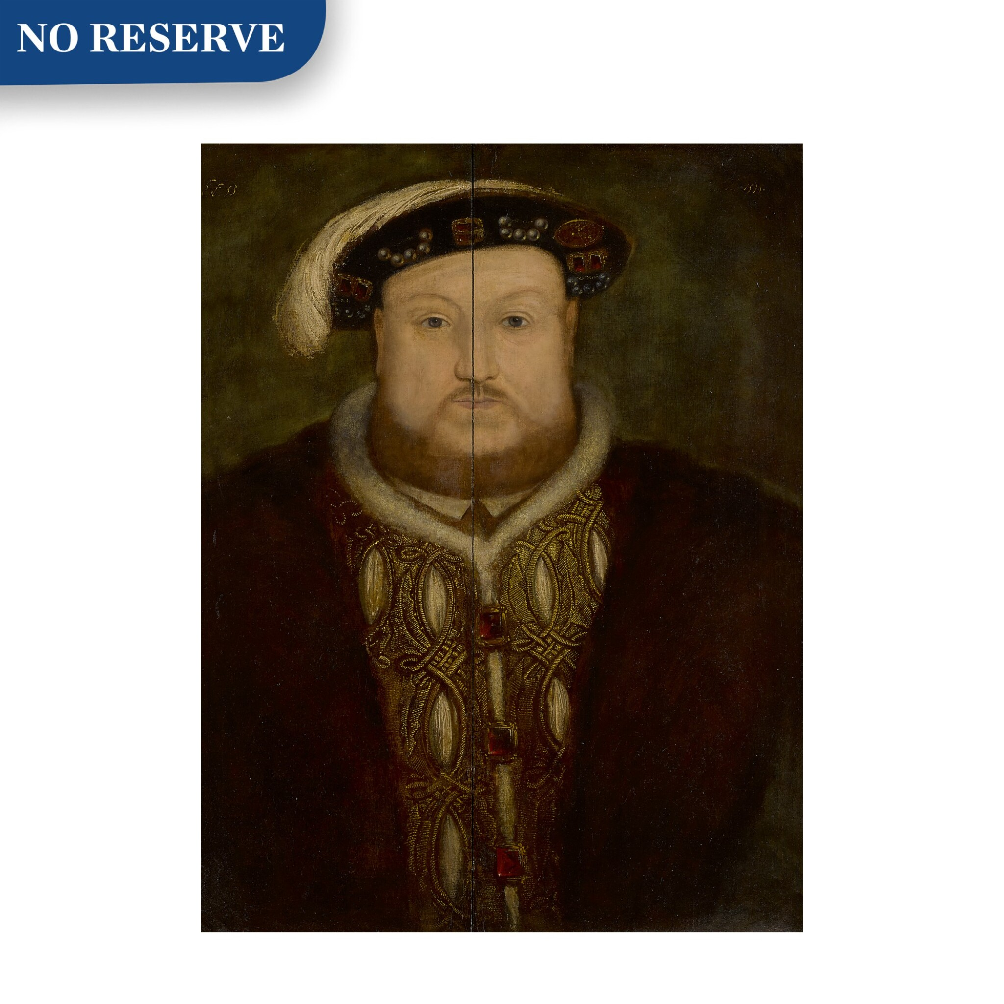 View full screen - View 1 of Lot 2. Portrait of King Henry VIII, bust-length.