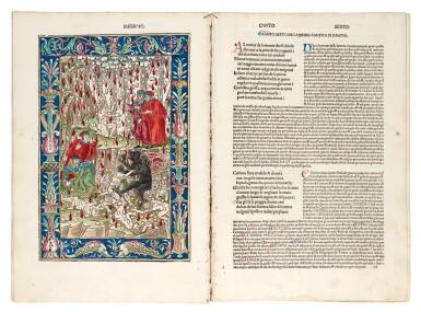 View 7. Thumbnail of Lot 183. Dante, La Commedia, Brescia, 1487, hand-coloured, disbound.