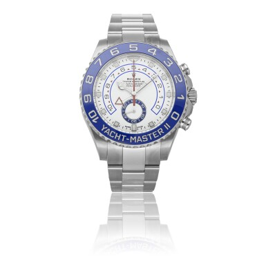 ROLEX | YACHT-MASTER II REF 116680, A STAINLESS STEEL AUTOMATIC WRISTWATCH WITH RETROGRADE COUNTDOWN AND BRACELET CIRCA 2019