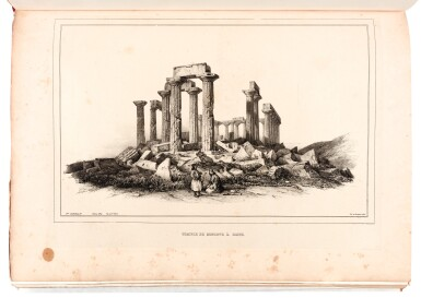 View 3. Thumbnail of Lot 106. Stackelberg. La Grèce. Vues pittoresques et topographiques. [1829]-1834. folio. modern red morocco. The Blackmer copy.