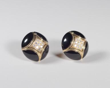 View 3. Thumbnail of Lot 17. Black Onyx and Diamond .