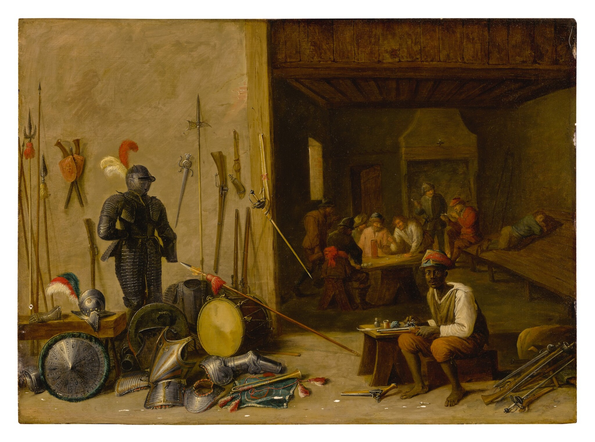 FOLLOWER OF DAVID TENIERS THE YOUNGER | A GUARDROOM INTERIOR