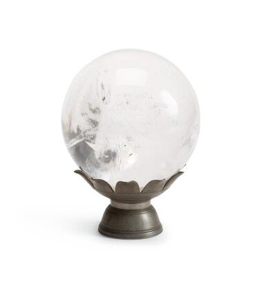 View 2. Thumbnail of Lot 225. A rock crystal sphere.