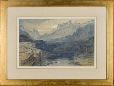 View 2. Thumbnail of Lot 77. EDWARD LEAR   The Pass of Bavella, Corsica   .