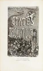 BALZAC. Les contes drôlatiques. 1855. Chagrin rouge. 1er tirage. Bel exemplaire en reliure de l'époque signée.