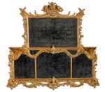 A George II carved giltwood overmantel mirror, circa 1755-60