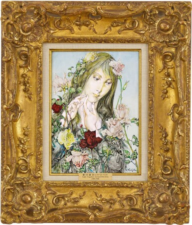 View 2. Thumbnail of Lot 1039. Léonard Tsuguharu Foujita 藤田嗣治 | Jeune fille aux fleurs 薔薇少女.