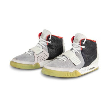 View 1. Thumbnail of Lot 38. Nike Air Yeezy 2 'Mismatch' Sample Signed by Kanye West | Size 12.