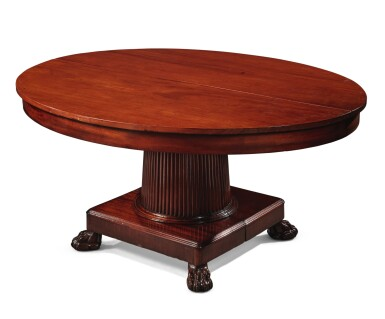 View 6. Thumbnail of Lot 99. A German Neoclassical Mahogany Dining Table, Early 19th Century.