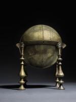 AN ELEGANT SAFAVID CELESTIAL GLOBE AND FRAME, PERSIA, 17TH CENTURY, PROBABLY ISFAHAN