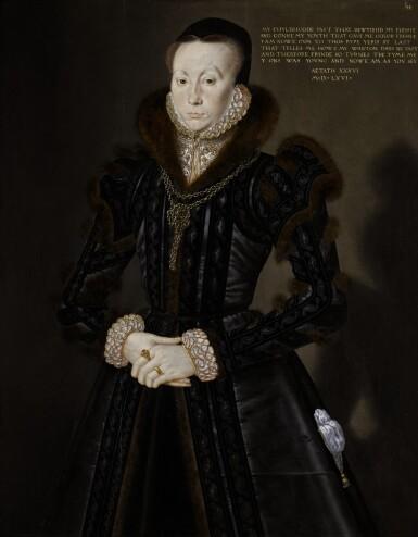 View 1. Thumbnail of Lot 7. Portrait of Joan Thornbury, Mrs Richard Wakeman | 《瓊・桑伯里,理查德・韋克曼夫人肖像》.
