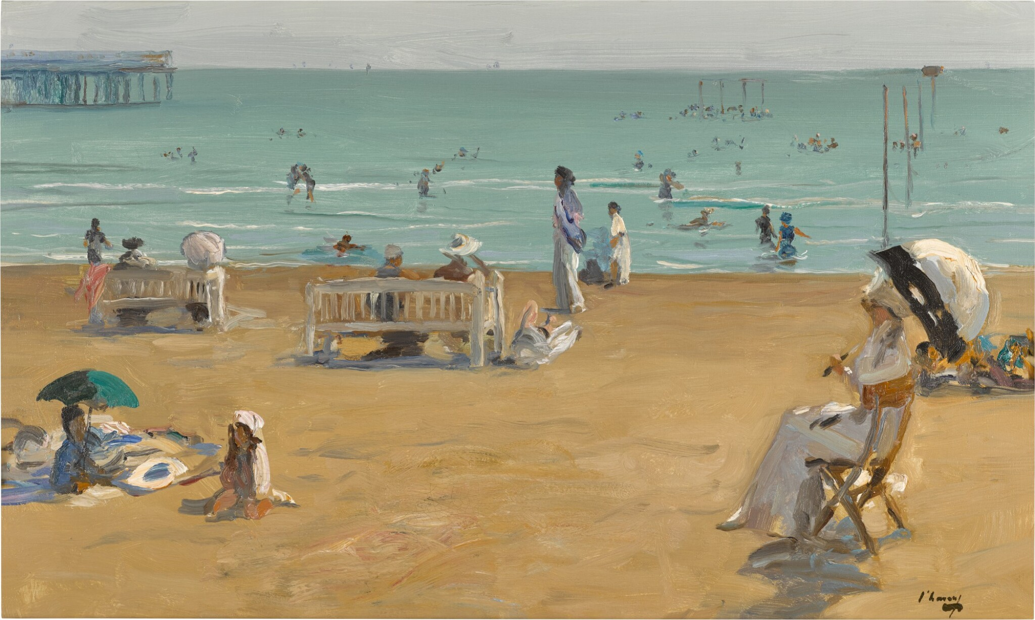View full screen - View 1 of Lot 26. The Bathing Hour, Lido, Venice.