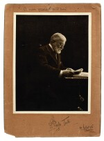"""P. Tosti. Autograph manuscript of the song """"Solo!"""" (Romanza), together with a photograph signed, 30 July 1906"""