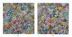 村上隆 Takashi Murakami   A:有微笑臉的花;B:未來會充滿微笑!一定!(兩件) A: Flowers with Smiley Faces; B: The Future Will Be Full of Smile! For Sure! (two works)