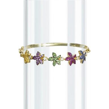 Gem set and diamond bracelet, Michele della Valle