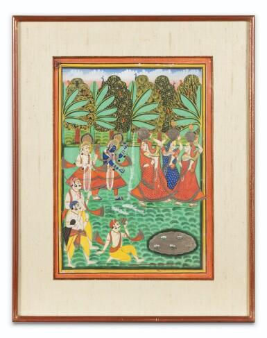 View 8. Thumbnail of Lot 69. RAJASTHAN, LATE 18TH CENTURY AND 19TH CENTURY | SEVEN INDIAN MINIATURES.