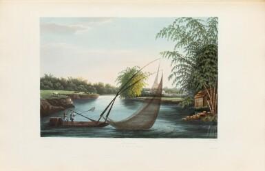 View 8. Thumbnail of Lot 215. LAPLACE. Voyage autour du monde de l'Inde et de Chine. 1833-1840. 7 volumes, dont 2 atlas et Zoologie..