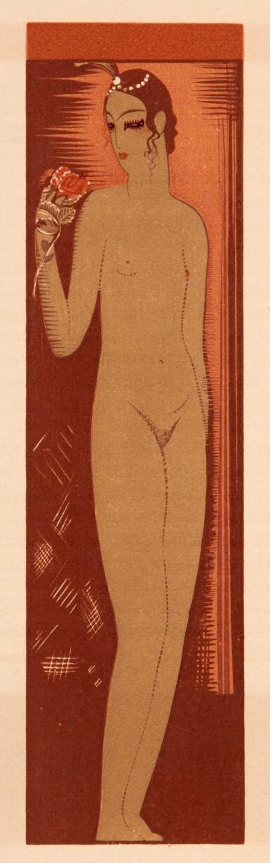 View 3. Thumbnail of Lot 97. Schmied and Mardrus, Histoire charmante de l'adolescente sucre d'amour. 1927. 4to. original wrappers.