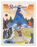 Fraser--[Tolkien], Coloured artwork relating to 1981 BBC Radio adaptation of Tolkien's The Lord of the Rings