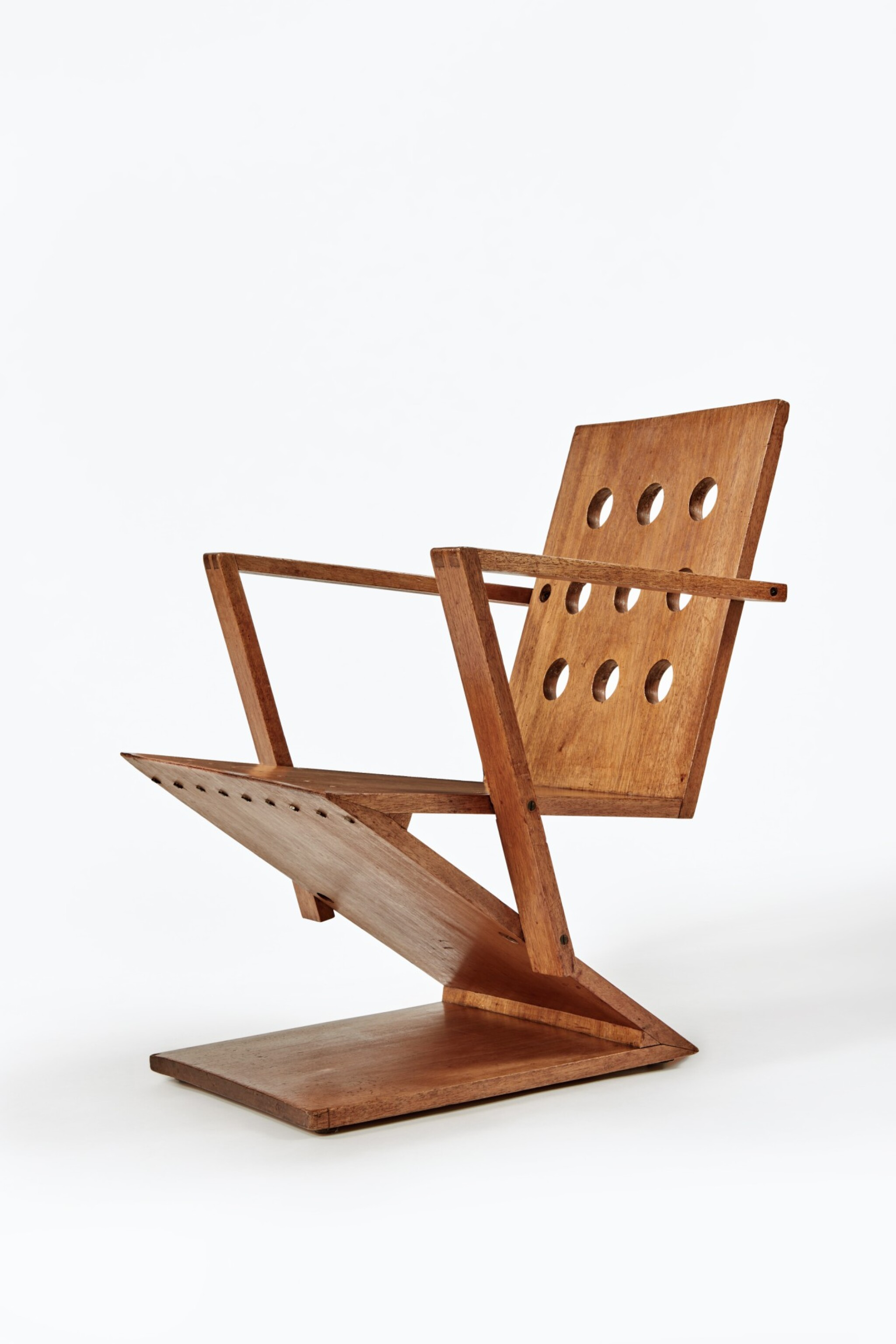 """View full screen - View 1 of Lot 13. """"Zig-Zag"""" Easy Chair."""