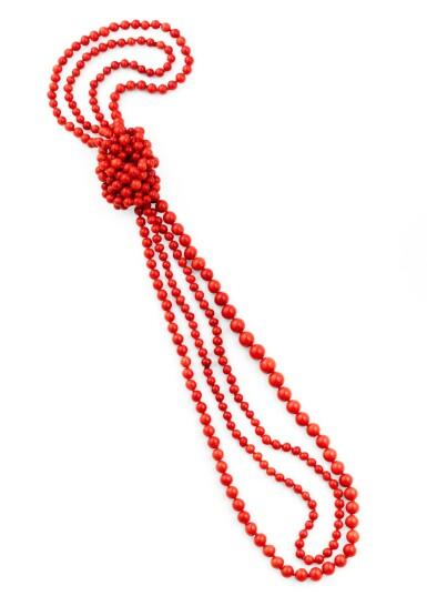 Coral necklace [Sautoir corail]