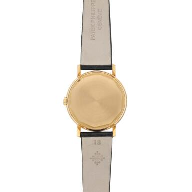 View 6. Thumbnail of Lot 247. Reference 3445  A pink gold automatic wristwatch with date, Made in 1963.