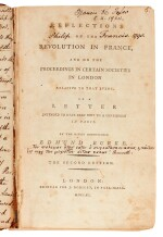 BURKE   Reflections on the Revolution in France, Philip Francis's annotated copy