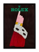 ROLEX AND HERBERT LEUPIN | A LARGE ADVERTISING POSTER PRINTED BY WOLFSBERG-DRUCK, ZURICH, CIRCA 1959