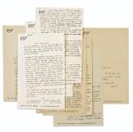 [Artaud]--Paulhan. 6 lettres inédites à Artaud. 1931-1932. 11 p. Sur le Théâtre de la Cruauté, les articles, d'Artaud...