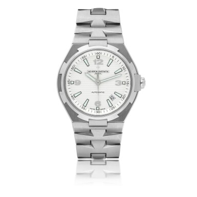 View 1. Thumbnail of Lot 185.  VACHERON CONSTANTIN   REF 47040 OVERSEAS, A STAINLESS STEEL AUTOMATIC CENTER SECONDS WRISTWATCH WITH DATE AND BRACELET CIRCA 2010.
