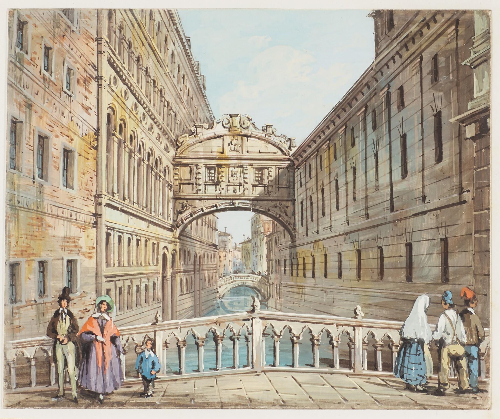 CARLO GRUBACS | View of thePonte dei Sospiri, Venice