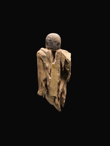 View 4. Thumbnail of Lot 267. AN EGYPTIAN LIMESTONE FIGURE OF A MAN,  5TH DYNASTY, 2520-2360 B.C..