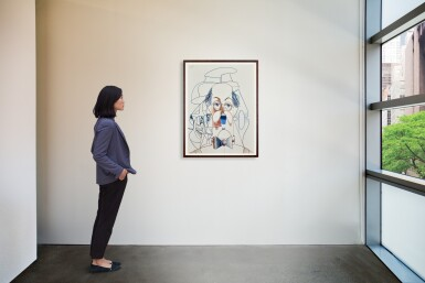 View 4. Thumbnail of Lot 518. George Condo 喬治・康多   Untitled (Banker)  無題(銀行家).