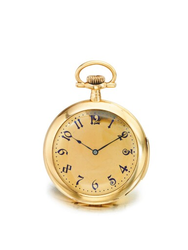 TIFFANY & CO. | A PINK GOLD OPEN FACED MINUTE REPEATING WATCH CIRCA 1910