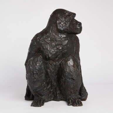 View 2. Thumbnail of Lot 97. Seated Baboon.